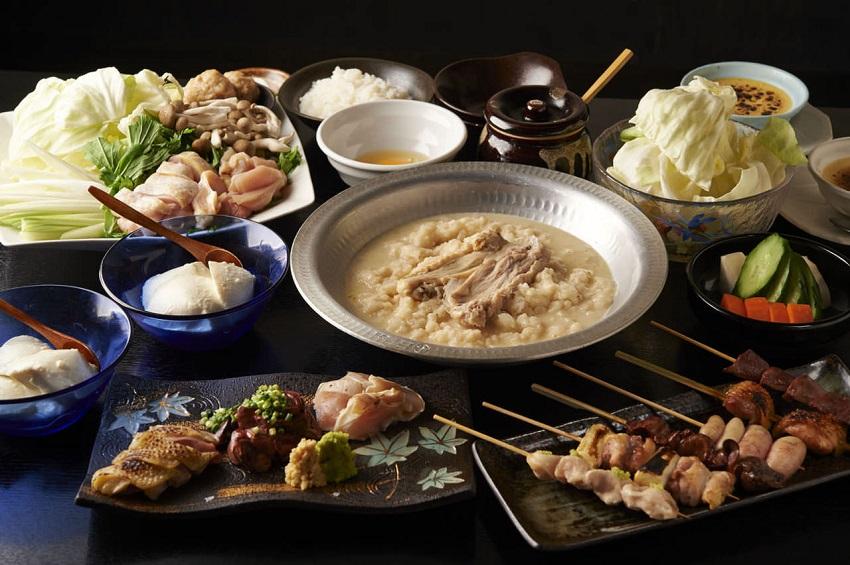 中山にある鶏料理専門の居酒屋「とりいちず」のメニュー