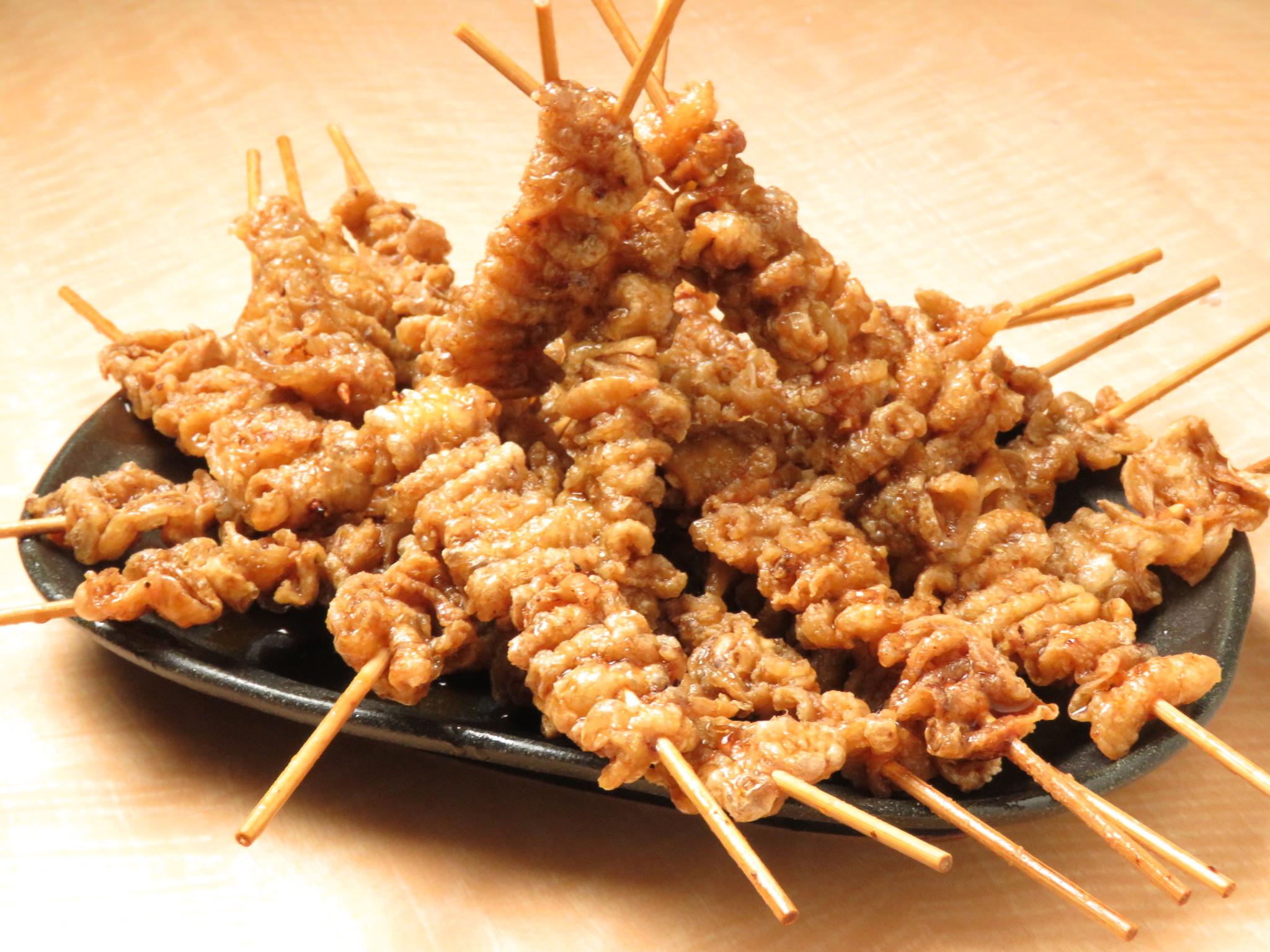 中山の鶏料理専門店[とりいちず]の絶品とり皮