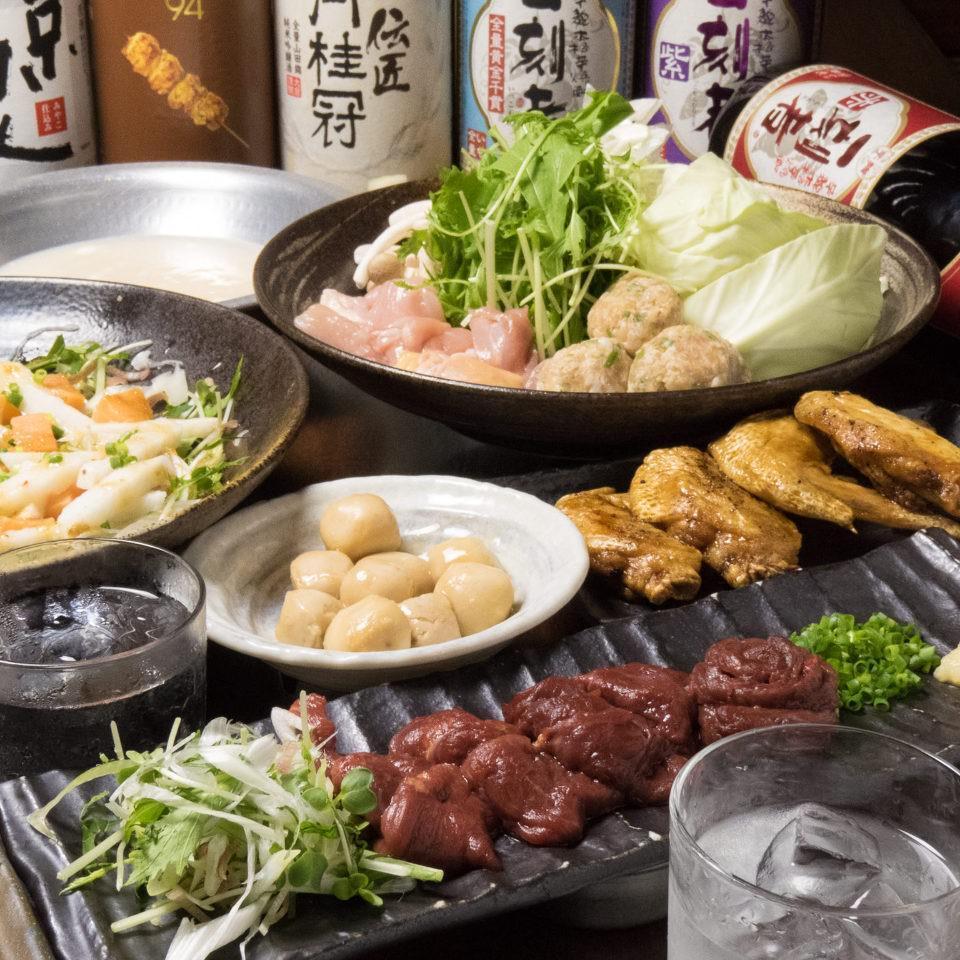 とりいちず 池袋東口店の鶏料理もお酒もしっかり楽しめるコース